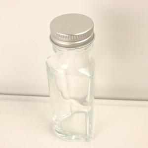 ハーバリウム瓶  ハート 50ml アルミ銀キャップ付 ハーバリウム 瓶 ボトル ガラス瓶|hanadonya