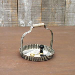SPICE ラギッド ハンドルラウンド S BAGF2061 01  4個 花器 花瓶 ブリキ アイアン アルミ花器|hanadonya