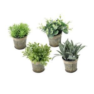 造花 SPICE DECOR IMITATION BLIKI Sサイズ 4種アソート TADY5088 01  12個 人工観葉植物「か行」 カジュアルポット|hanadonya