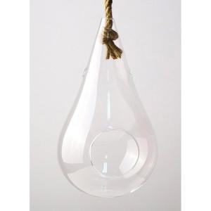 SPICE Hanging vase with the rope Clear Mサイズ KEGY5012 01  3個 花器 花瓶 ガラス花器|hanadonya