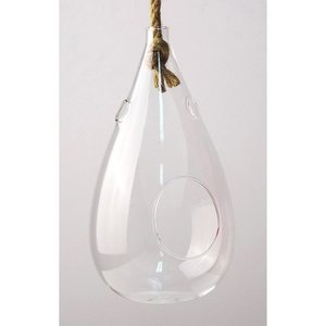 SPICE Hanging vase with the rope Clear Sサイズ KEGY5011 01  4個 花器 花瓶 ガラス花器|hanadonya