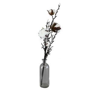 造花 SPICE イミテーションコットンフラワー ベースアレンジ Mサイズ XHDY8022 3個 造花ギフト フラワーアレンジ|hanadonya