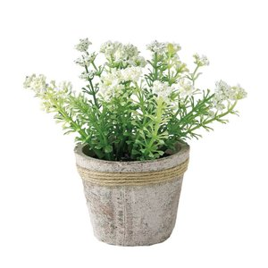 人工観葉植物 SPICE フェイクグリーンポット ワイルドフラワー イエロー TADY6050 6個 人工観葉植物「か行」 カジュアルポット|hanadonya