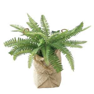 人工観葉植物 SPICE ジュートポット入りフェイクグリーン シダA TADY7020 2個 人工観葉植物「か行」 カジュアルポット|hanadonya