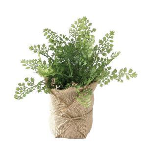 人工観葉植物 SPICE ジュートポット入りフェイクグリーン ハーブ TADY7040 2個 人工観葉植物「か行」 カジュアルポット|hanadonya