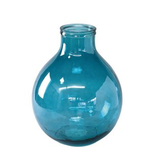 SPICE VALENCIA リサイクルガラスフラワーベース TRES ブルー VGGN1030BL 花器 花瓶 ガラス花器 hanadonya