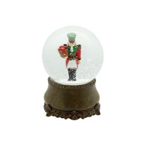 丸和貿易 スノードーム オルゴールソルジャー 400819403 クリスマス飾り スノードーム 卓上イルミネーション hanadonya