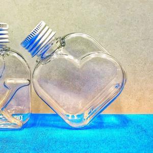 NAMEW ネイミュー  イニシャルハーバリウム用 アルファベットPETボトル ミニ ≪ハート≫ 115ml ハーバリウム 瓶 ボトル PETボトル|hanadonya