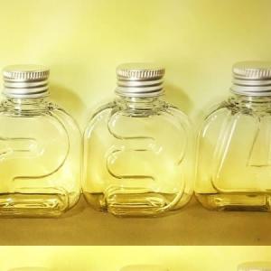 NAMEW ネイミュー  イニシャルハーバリウム用 アルファベットPETボトル ミニ  数字≪3≫ 105ml ハーバリウム 瓶 ボトル PETボトル|hanadonya