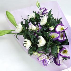 ご用途:供花(お供え・命日・法事・お盆・お彼岸) 形態:花束 商品サイズ: 長さ:約60cm×幅:約...