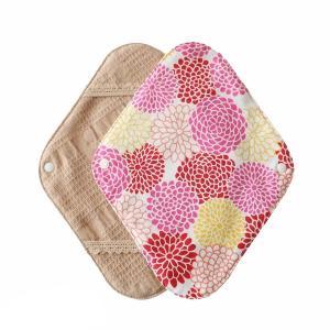 オーガニックコットンの布ナプキンホルダー[京菊/紅 くれない]1枚入り 落ちない ずれない 布ナプキン初心者におすすめ 華布|hanafu