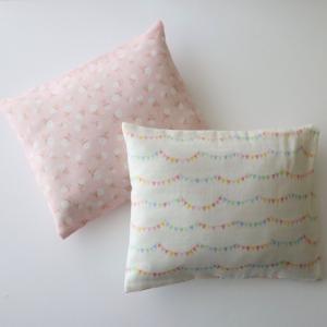 オーガニックコットン100%のハギレを詰めた華布のエシカル枕 お昼寝枕 お昼寝まくら オーガニックコットン hanafu