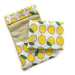 ポケットポーチ 布ナプキンポーチ【1枚持ち歩き用】メール便送料無料 レモン柄|hanafu