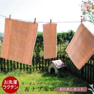 布ナプキン セット オーガニック お試し 華布 オーガニックコットン 送料無料|hanafu