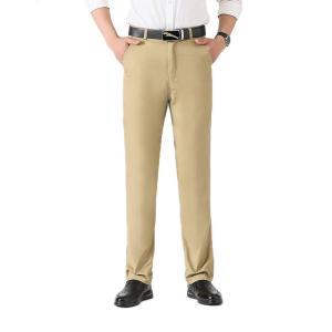 ロングパンツ メンズ ビジネスパンツ スーツパンツ ズボン スラックス スリム アウトドア カジュア...