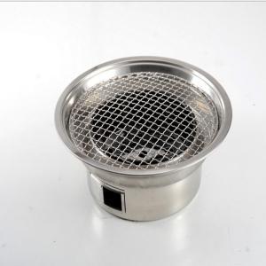 バーベキュー コマーシャルのために適した禁煙ステンレス鋼の円形のグリルの使用 庭バーベキュー