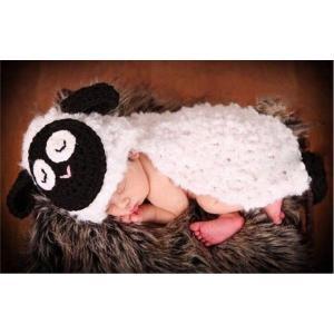 ベビー コスチューム 出産祝い 寝相アート フード付き羊