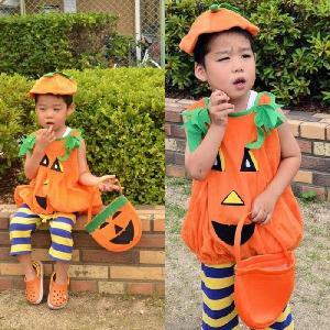 コスプレ 衣装 ハロウィン かぼちゃ ロンパース子供 ベビー