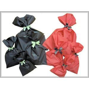 リボン付ラッピング袋 Lサイズ プレゼント 誕生日 クリスマス 包装|hanahanahanahana