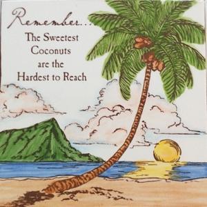 バナナ パッチ スタジオ アートタイル プレート ダイヤモンドヘッド 15.2×15.2cm 【ハワイアン雑貨】 壁掛け ウォールデコレーション ハワイセラミックタイル hanahawaii