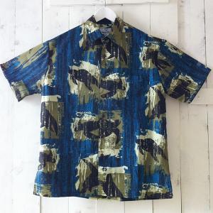 ハワイアン雑貨 ホヌ ワイランド メンズアロハシャツ ホヌ ダークブルーS ハワイアン雑貨 ファッション雑貨 ハワイアン ホヌ ハワイアン 海 ビーチ|hanahawaii