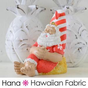ハワイアン雑貨 クリスマスオーナメント (お昼寝サンタ)  サンタクロース クリスマスツリー クリスマスプレゼント 飾り 飾りつけ クリスマス おしゃ|hanahawaii