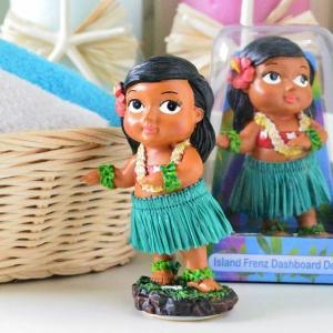 ハワイアン雑貨 ミニチュアダッシュボートドール ケイキダンシング キッズ 子供 ハワイアンフラドール 人形 フラダンス フラ インテリア雑貨 カーアク|hanahawaii