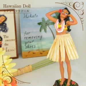【あすつく対応】 ハワイアンドール 2hands behind head セクシーフラガール   高さ180mm 2色展開 【ハワイアン雑貨】 人形 フラダンス フラ インテリア雑貨|hanahawaii