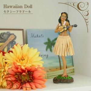 【あすつく対応】 ハワイアンダッシュボードフラドール ウクレレポーズ 高さ180mm 2色展開|ハワイアン雑貨 ハワイアンフラドール 人形 フラダンス フラ カー|hanahawaii