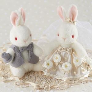 結婚式の手作りキット「ウェディングうさちゃんデイジー」ウェディングラビットCLK68-701|hanakobo-wedding
