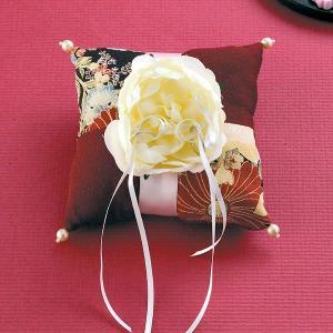 結婚式の手作りキット「和モダンリングピロー菊」和風リングピローCLK69-001|hanakobo-wedding