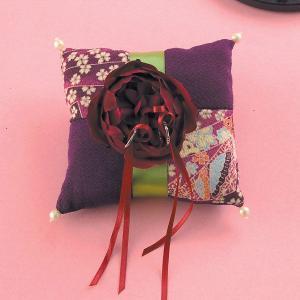 結婚式の手作りキット「和モダンリングピロー桜」和風リングピローCLK69-002|hanakobo-wedding