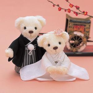 手作りキット「和装 白無垢」和装ウェディングベアCLK69-139|hanakobo-wedding