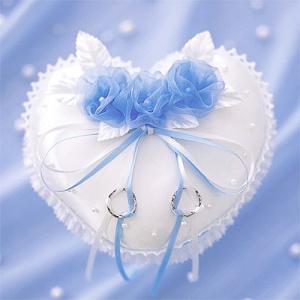 結婚式の手作りキット「リングピロー・ローズブルー」結婚式、ウェディングにCLK69-147|hanakobo-wedding