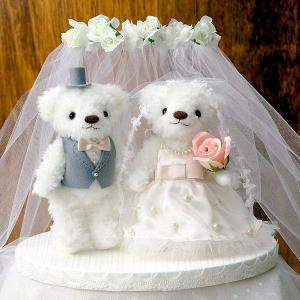 手作りキット「ウェディングベア・キュートパール」結婚式、ウェディングにCLK69-702|hanakobo-wedding