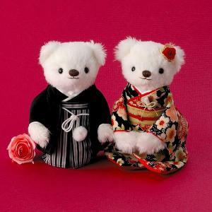 手作りキット「和モダン 雅桜」和装ウェディングベアCLK69-707|hanakobo-wedding