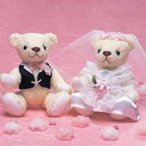 結婚式 手作りキット「ウェディングベア・ラブリーピンク」ウェディングの演出にCLK69-882|hanakobo-wedding