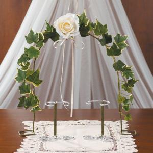 結婚式 手作りキット「アーチ&スタンド・アイボリー」ウェディングベアのディスプレーにCLK79-797|hanakobo-wedding