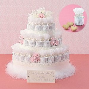 飾れるプチギフト お菓子 結婚式「レースデコレーション・ピンク(クッキー)43個セット」 CS1207-1018|hanakobo-wedding