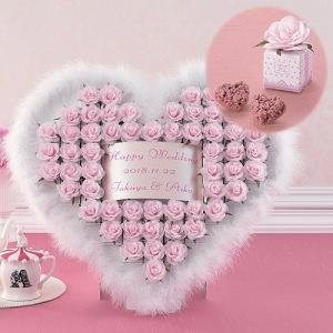 飾れるプチギフト ウェルカムボード お菓子 結婚式「ハートファー/ピンク(ハートクランチ)55個セット」 CS1208-1022|hanakobo-wedding