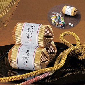 プチギフト お菓子 結婚式 お祝い「寿俵チョコボール(七福神デザイン)1個」 CS1322-1112|hanakobo-wedding