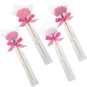 プチギフト お礼 結婚式「ピンクフレア(耳かき)1個」雑貨個包装 大量 業務用 CS1215-1052|hanakobo-wedding