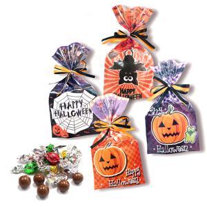 ハロウィンお菓子 配る 業務用 個包装「キラチョコ ハロウィン」プチギフト おしゃれ 大量 個包装 HZW-HWK|hanakobo-wedding