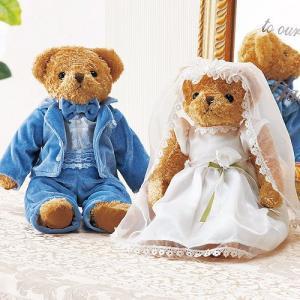 ウェディングベア完成品「ウェルカムティディーモア(ペア)」ウェディンググッズ・結婚式にOA14E75-1019|hanakobo-wedding