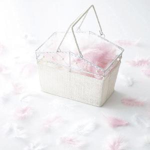 フラワーシャワー「エンジェルシャワー・ピンク&ホワイト」バスケット付きOA14E76-1068|hanakobo-wedding