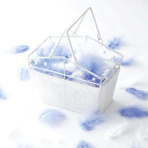 フラワーシャワー「エンジェルシャワー・ブルー&ホワイト」バスケット付きOA14E76-1069|hanakobo-wedding