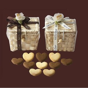 プチギフト お菓子 ホワイトデーお返し「フェリシテバスケットクッキー」結婚式 退職 お礼挨拶 大量 会社 職場 業務用 個包装 おしゃれ OAP1635-1506|hanakobo-wedding