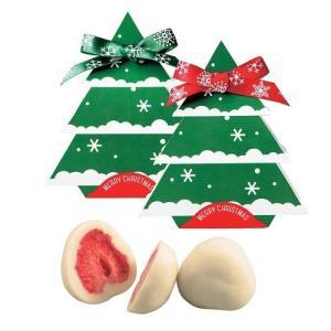クリスマス お菓子 プチギフト配る「クリスマスツリードライ苺チョコレート」業務用 大量 個包装 OG1165-OGT697 hanakobo-wedding
