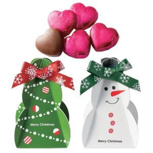 クリスマス お菓子 プチギフト「クリスマスサンタのプチギフト」配る 個包装 ハートチョコレート 業務...