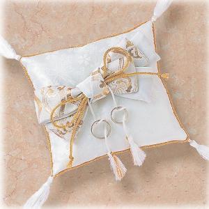 結婚式の手作りキット「ロマンティックリングピロー・和スクエア 」和のリングピローTAK4493|hanakobo-wedding